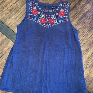 Navy blue sleeveless top